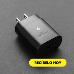 CARGADOR CUBO PARED 25W Y CABLE USB-C/C SAMSUNG